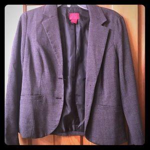 Gray plaid blazer jacket